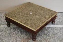 Handicraft Wooden Pooja Chowki