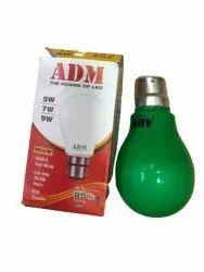 Aluminum Round ADM 9 Watt Green LED Bulb