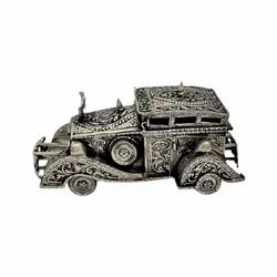Antique Silver Plated Car For Decoration & Corporate Gift