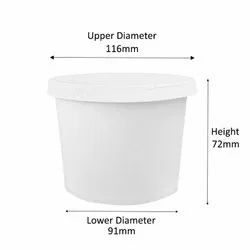 500ml Standard Paper Container With Paper Lid