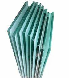 10mm Laminated Toughened Glass, Shape: Flat