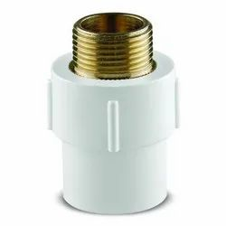 Kamnath White Brass Male Adaptor, For Hardware Fitting, Size: 1/2''