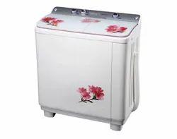 Top Loading 7kg Livya Semi Automatic Washing Machine, White And Color Printed