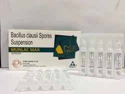 Munlac Max Bacillus Clausii 2 Billion Spores Suspension