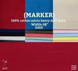 Marker 100% Cotton Calvin Heavy Drill Lycra Shirting Fabric