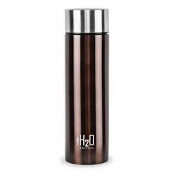 Standard Cello H2O Stainless Steel Water Bottle, 1L, Brown, 1 Piece, Round