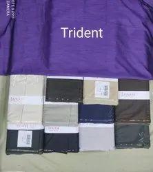 Trident Cotton Fabric, Plain, Blue