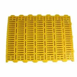 Powder Coated Yellow Plastic Slatted Flooring, Thickness: 40mm