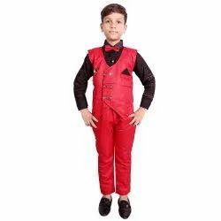 Red Boy Kids Party Wear Suit
