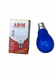 Aluminum Round ADM 9 Watt Blue LED Bulb