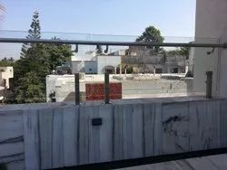 Pipe Silver Stainless Steel Deck Railing, For Home