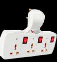 6 Amp Abs Plastic Alfa-eb-06 Alfalite Cordless Electric Extension Board, Number Of Sockets: 3- 3 Pin Socket