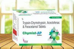 Trypsin Chymotrypsin,Aceclofenac Paracetamol Tablets