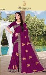 Fancy Vichitra Silk Saree