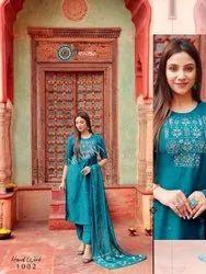 Aradhna Hand Work 1 Cotton Silk Exclusive Readymade Collection