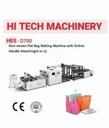 Non-Woven Flat Bag Making Machine With Online Handle Attaching (4-in-1)