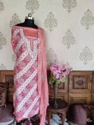 Floral V Crepe Kashmiri Suit With Aari And Zari Embroidery