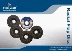 Round Aluminium Oxide FlapCraft Jumbo Flap Disc 100 x 16 mm