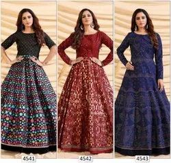 Wedding Wear Embroidered Ank Enterprise Designer Exclusive Long Gown Collection For Women