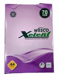 White 70Gsm West Coat A4 Copier Paper, For Photocopy, Printing, Packaging Type: Packet