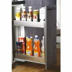 Slimline Satin Bottle Pullout 2 Shelf, Size/Dimension: 200mm