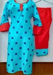 Rayon Round Neck Women Salwar Kurta, Size: 38 40