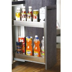 Slimline Satin Bottle Pullout 2 Shelf, Size/Dimension: 300mm