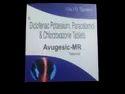 AVUGESIC-MR  Diclofenac Potassium 50mg+ Paracetamol 325mg+Chlorzoxazone 250mg  10X10