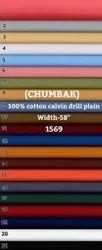 Chumbak 100% Cotton Calvin Drill Plain Shirting Fabric