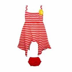 Sleeveless Kids Frock With Panty For Kids Girls