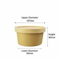 350ml kraft paper Container with lid