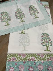 Hand Block Print Cotton Bedsheet