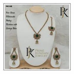 Premium Quality Mehndi Plating Necklace Set