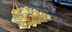 Polished Gold Plated Shri Ram Mandir, For Religious
