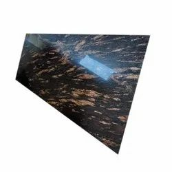 Polished Fantastic Black Granite Slab, Thickness: 15-20 mm