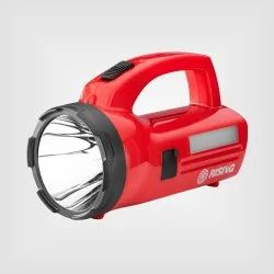 Rising Plastic Tigor Rechargeable LED Torch, Capacity: 3000 mAh, Battery Type: Lithium Ion
