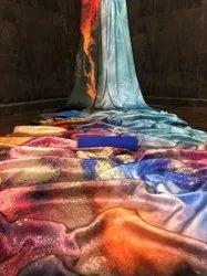 Digital floral print  Soft Silk Saree