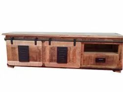 Brown 3 Drawer Wooden Storage Cabinet, For Home
