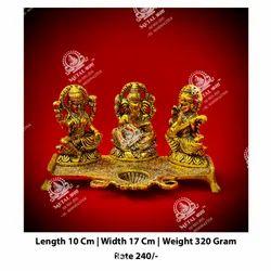 Ganesh Laxmi Saraswati God Statue