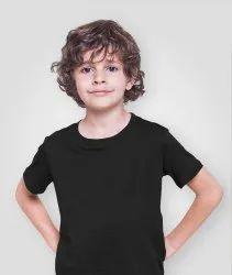 Cotton Casual Wear Kids Round Neck T Shirt, Size: 22 24 26 28 30 32 34