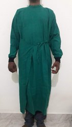 OT Surgeon Gown Front Open Cotton Sheeting