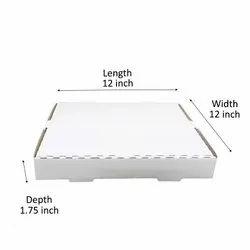 Plain White Pizza Boxes(12 inch)