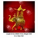 Golden Elephant Statue