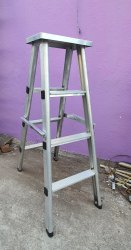 Aluminum Folding Platform Ladder