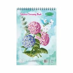 White Sundaram Sketch Drawing Book - A3 - 36 Pages (D-8), For Drawing,Sketching, Size: 29 X 42 Cms