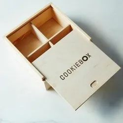 Square Wooden Cookie Box