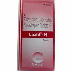 Lazid N Tablet(Lamivudine (150mg) + Zidovudine (300mg) + Nevirapine (200mg)