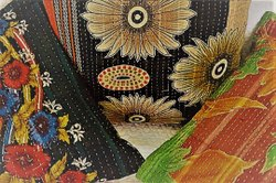 Kantha Stitch Cushion Cover