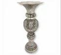 Metal Silver Plated Flower Vase For Decoration