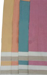 4 Colors Striped Cotton Kurti Fabric, For Garments, Check/stripes